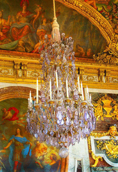 Photograph - Chandelier At Versailles by Diana Haronis