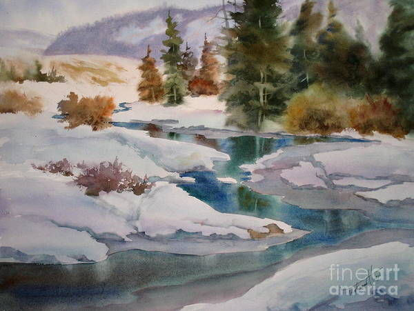 Snow Bank Painting - Changing Seasons by Mohamed Hirji