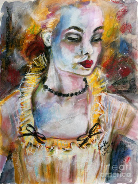 Painting - Chantalle And Her Sheer Blouse by Ginette Callaway