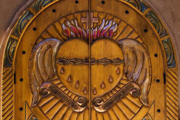 Wooden Church Wall Art - Photograph - Chapel Doors by Carol Leigh
