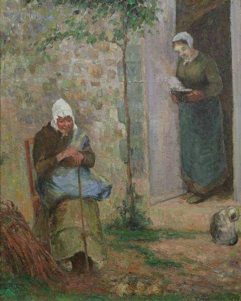 Hunger Painting - Charity by Camille Pissarro