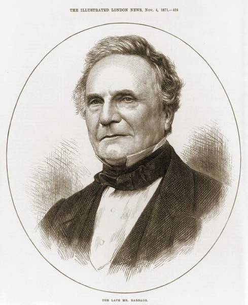 Tc Photograph - Charles Babbage 1792-1871 English by Everett