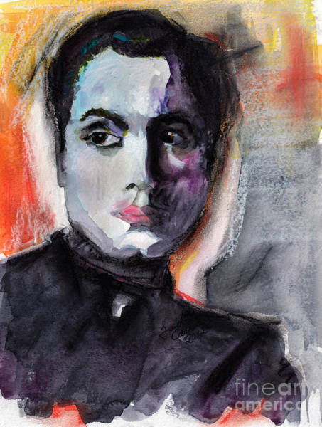 Mixed Media - Charles Boyer The Way I See Him by Ginette Callaway