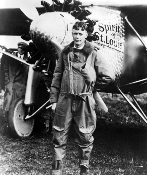 Everett Photograph - Charles Lindbergh At Curtiss Field by Everett