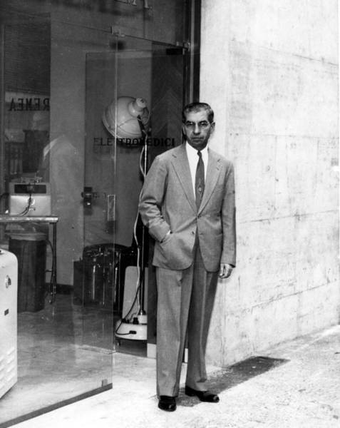 Luciano Wall Art - Photograph - Charles Lucky Luciano Standing In Front by Everett