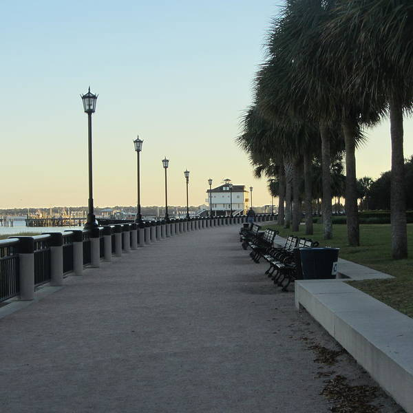 Low Battery Photograph - Charleston Bay by Cathy Lindsey