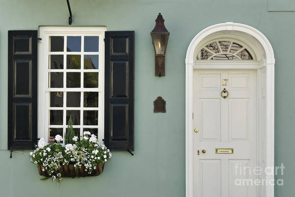 Mail Slot Photograph - Charleston Doorway - D006767 by Daniel Dempster