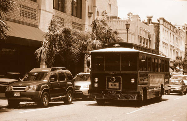 Photograph - Charleston Trolley by Emery Graham