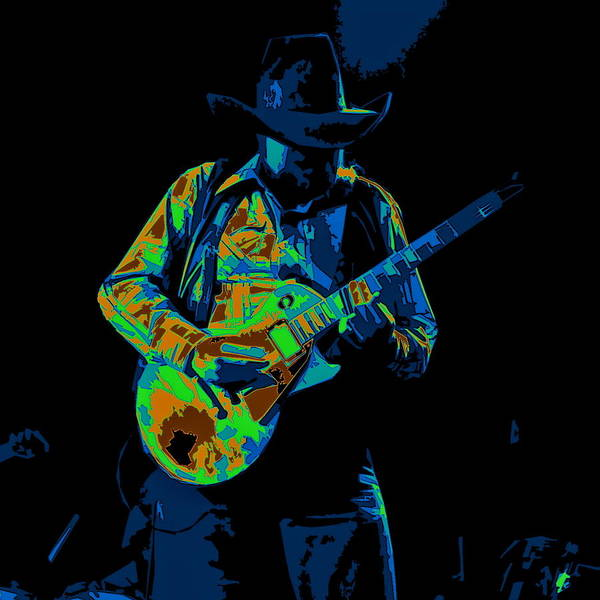 Photograph - Playing Psychedelic Blues At Winterland In 1975 by Ben Upham