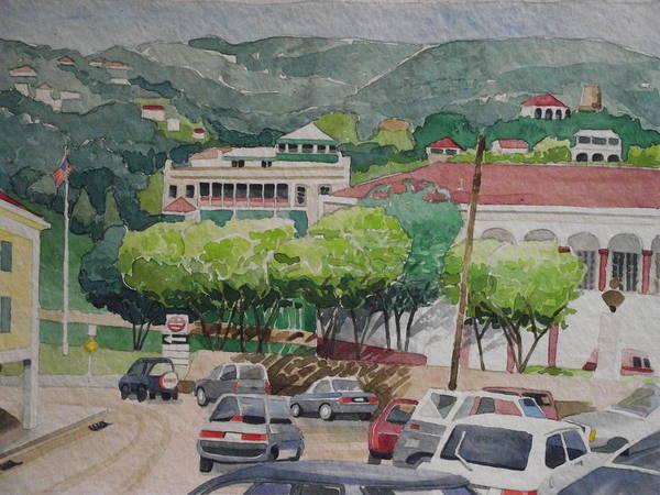 Us Virgin Islands Painting - Charlotte Amalie Tolbad Gade by Robert Rohrich