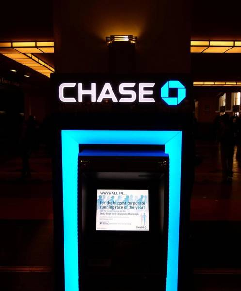 Photograph - Chase Bank Atm by Jeff Lowe
