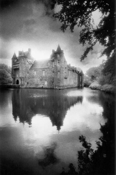 Moat Photograph - Chateau De Trecesson by Simon Marsden
