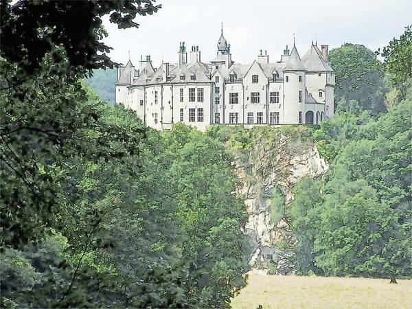 Chateau De Walzin Belgium Art Print