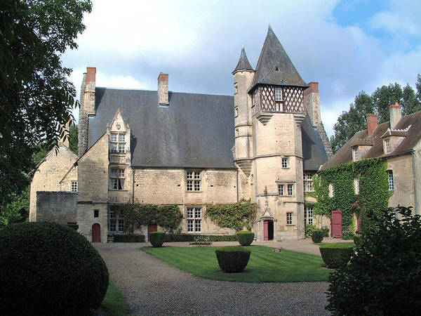 Chateau Villamenant France Art Print