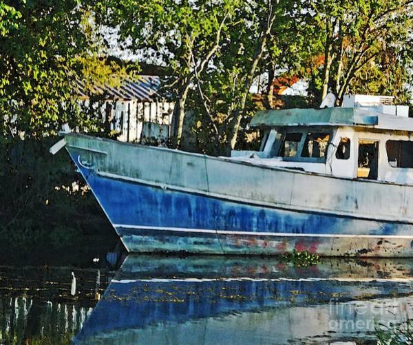 Chauvin La Blue Bayou Boat Art Print