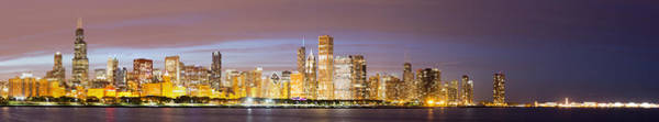 Chicago Skyline Art Photograph - Chciago Skyline In The Evening by Twenty Two North Photography