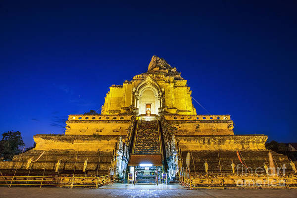 Chinese New Year Photograph - Chedi Luang Temple by Anek Suwannaphoom
