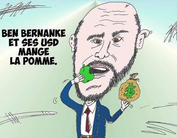 Ant Mixed Media - Chef De La Fed Ben Bernanke En Caricature by OptionsClick BlogArt