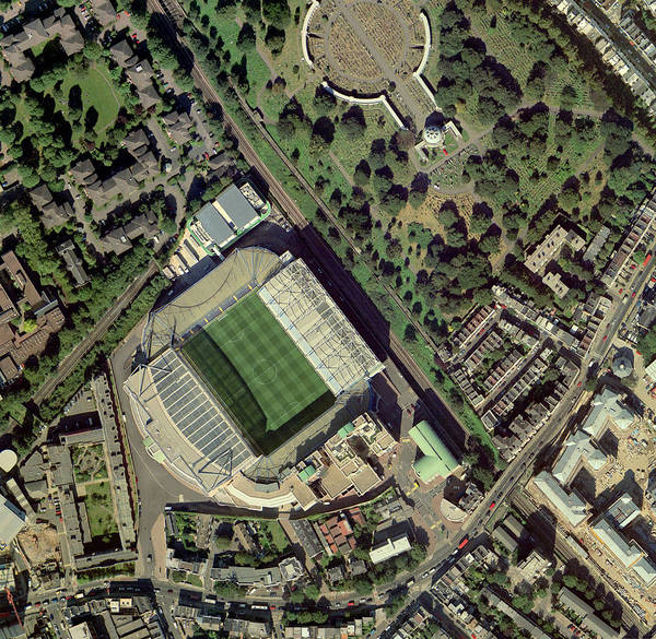 Stamford Photograph - Chelsea's Stamford Bridge Stadium, Aerial by Getmapping Plc