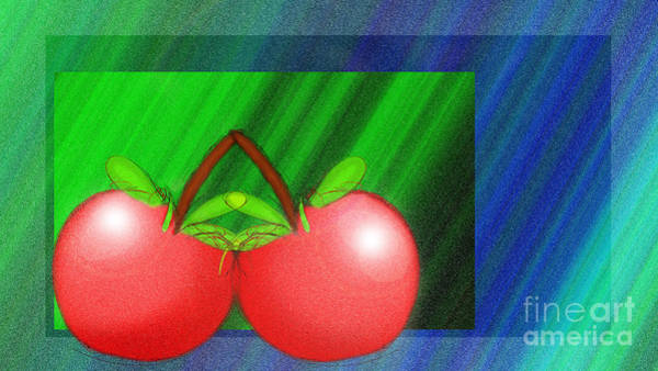 Digital Art - Cherries In Love by Andee Design