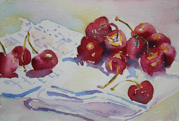 Painting - Cherries by Tara Moorman