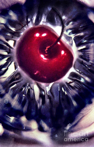 Sundae Wall Art - Photograph - Cherry At The Bottom Of An Empty Sundae Glass by Janeen Wassink Searles