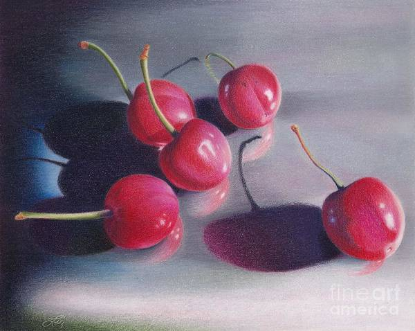 Cherry Talk Art Print