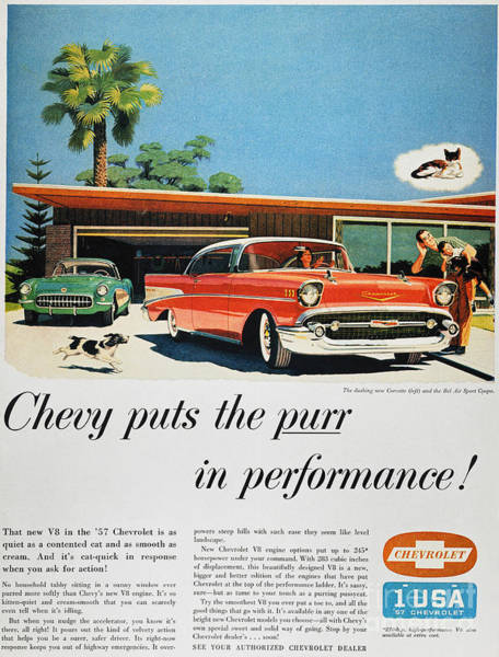 Photograph - Chevrolet Ad, 1957 by Granger