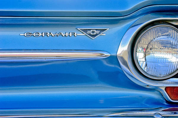 Photograph - Chevrolet Corvair Emblem by Jill Reger