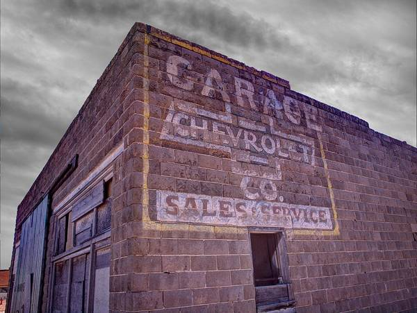 Photograph - Chevrolet Sales And Service by HW Kateley