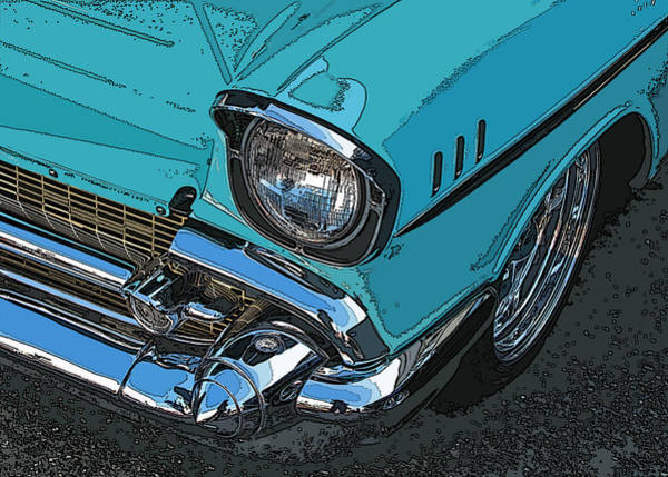 Photograph - Chevy Bel Air Headlight And Bumper by Samuel Sheats