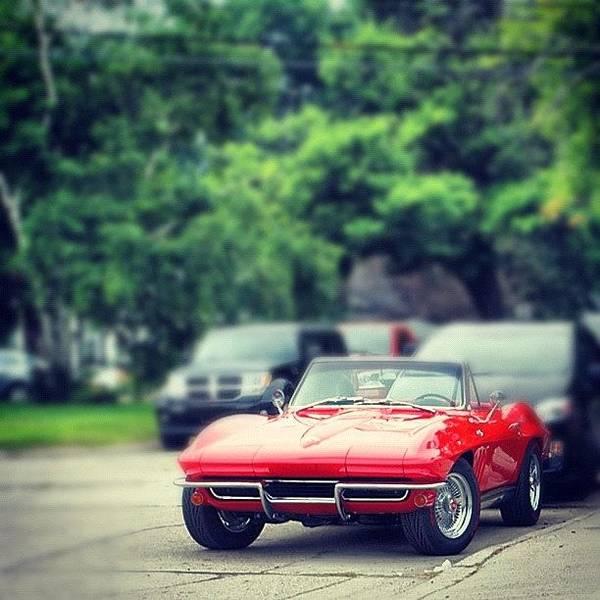 Chevrolet Corvette Photograph - #chevy #corvette #convertible #photo by Junior  Scholars