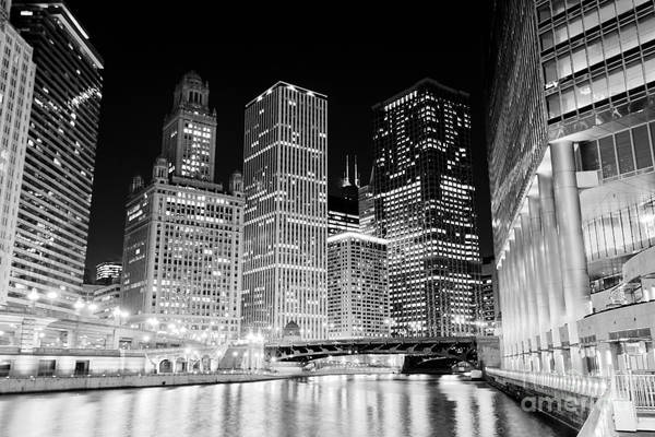 Wabash Avenue Wall Art - Photograph - Chicago At Night by Paul Velgos