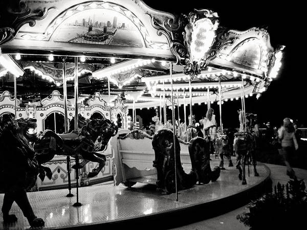 Photograph - Chicago Carousel by Laura Kinker