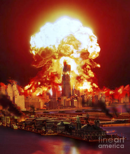 Digital Art - Chicago Disintegrates As A Nuclear by Ron Miller