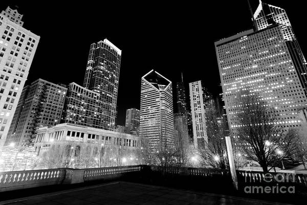 Cultural Center Wall Art - Photograph - Chicago Downtown At Night  by Paul Velgos