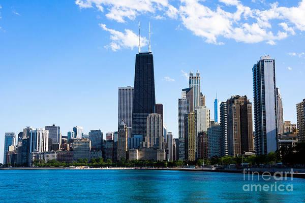 Chicago Lakefront With John Hancock Building Art Print