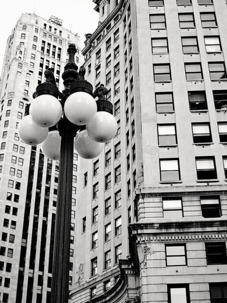 Photograph - Chicago Lamp Post by Laura Kinker
