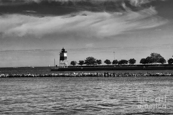 Photograph - Chicago Lighthouse by Leslie Leda