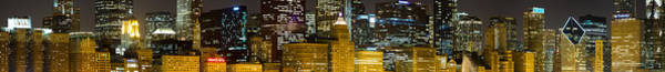 Chicago Skyline Art Photograph - Chicago Lights by Twenty Two North Photography
