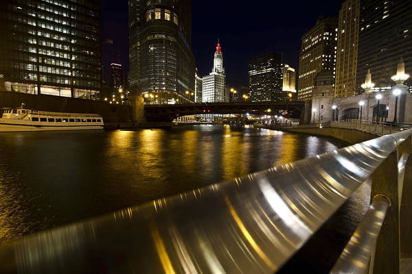 Photograph - Chicago Riverwalk And Reflections by Sven Brogren