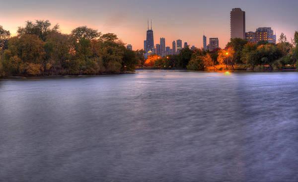 Chicago Skyline From Lincoln Park Art Print