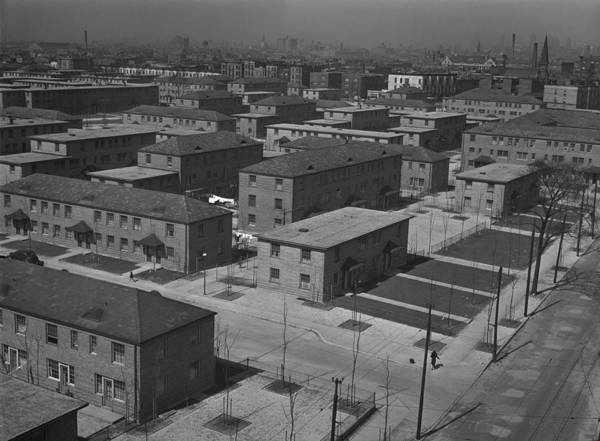 Works Progress Administration Photograph - Chicagos Ida B. Wells Housing Project by Everett