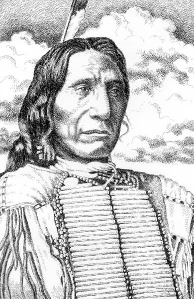 Drawing - Chief-red-cloud by Gordon Punt