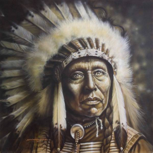 Wall Art - Painting - Chief by Timothy Scoggins