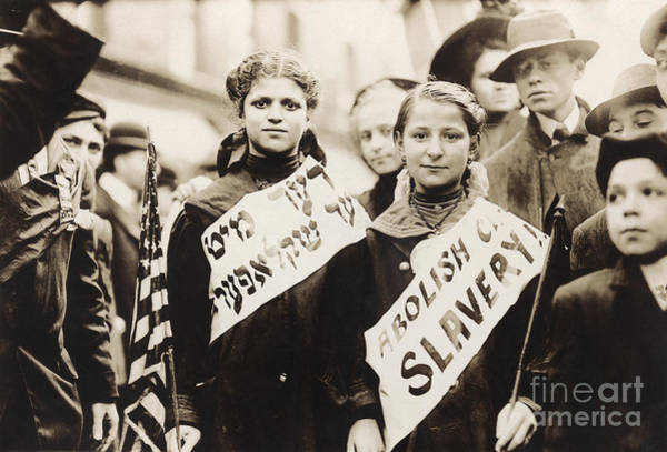Photograph - Child Labor Protest, 1909 by Granger