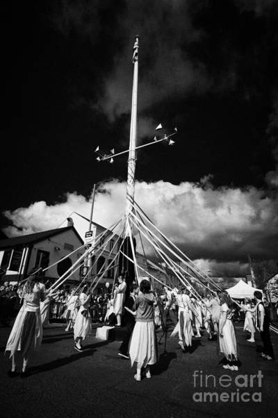 Wall Art - Photograph - Children Dancing Around The Holywood Maypole On May Day In Holywood County Down by Joe Fox