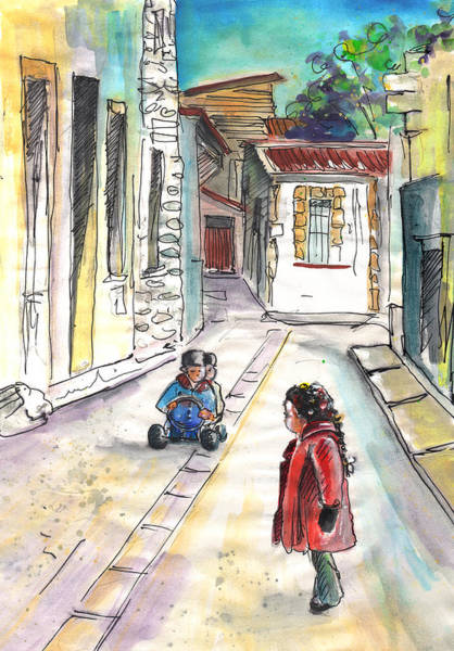Painting - Children In Nicosia by Miki De Goodaboom