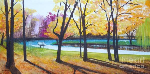 Wall Art - Painting - Childrens Park In Ny by Pauline Ross