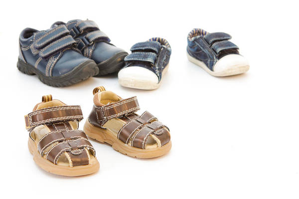 Casual Photograph - Childs Shoes by Tom Gowanlock